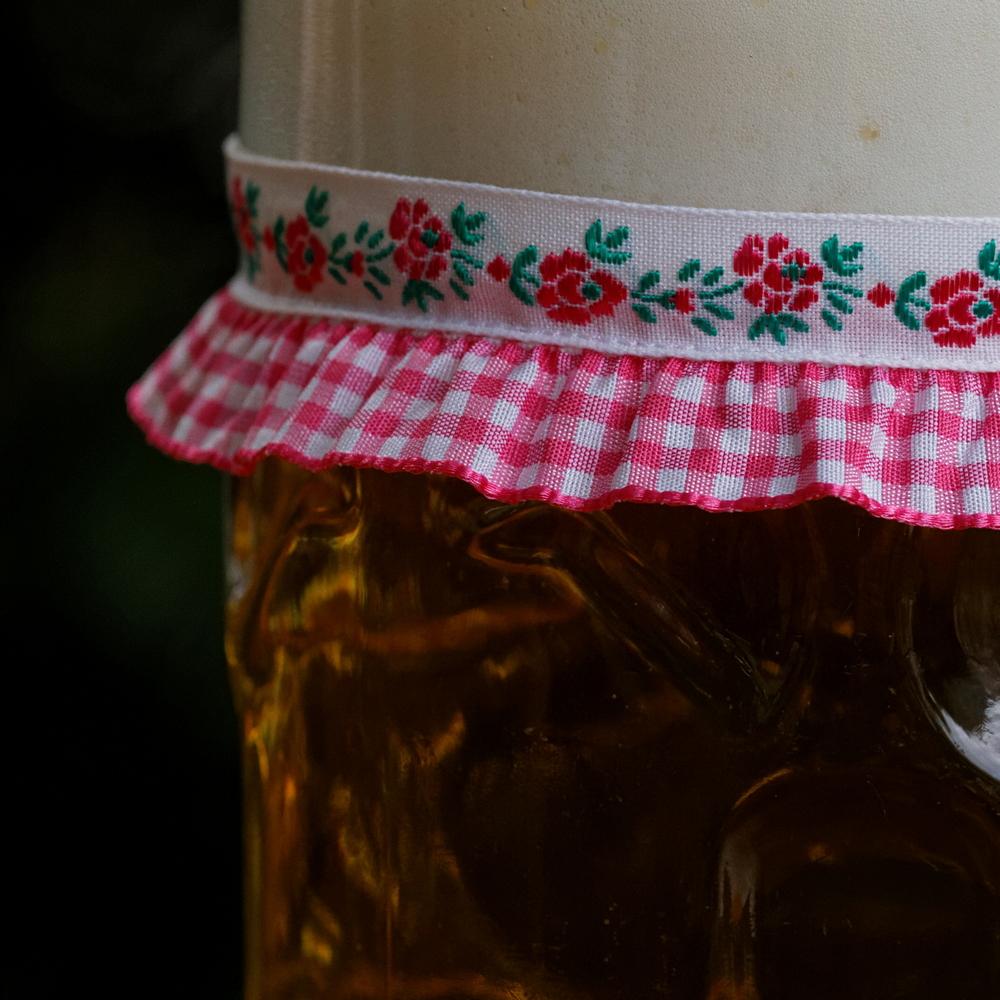 Vronikaa Maßkrugband Blumen Rosa