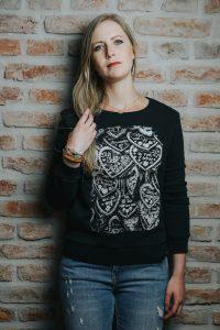Vronikaa Shirt Sweatshirt Damen Herzen