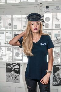 Vronikaa Shirt Heidi Navy