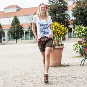 Vronikaa Lederhose Miss Therese Shirt Wiesn