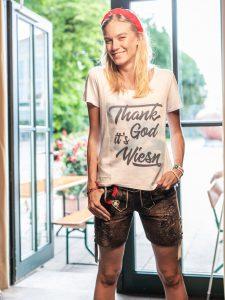 Vronikaa Lederhose Lady Bavaria Shirt Wiesn