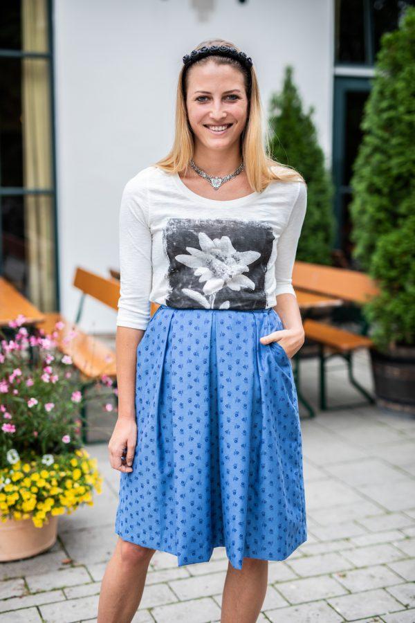 Vronikaa Trachtenrock Susi Shirt Edelweiß